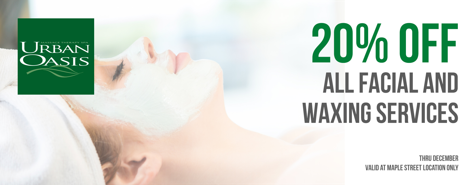 Promotions Urban Oasis Massage Skin Care